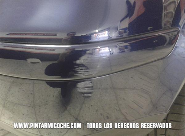 Daño de pintura en paragolpes. Piintarmicoche.com