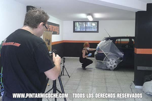 Filmación video reparacion paragolpes. Pintarmicoche.com