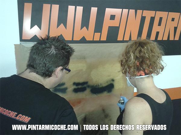 Prácticas con spray. Pintarmicoche.com