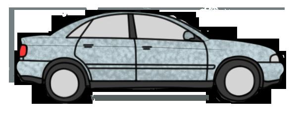 simulación efecto sombreado en un coche
