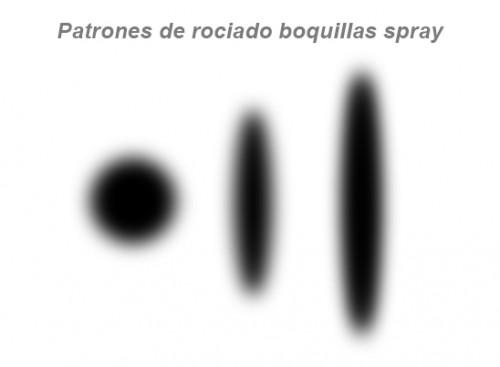 patrones rociado de un spray de pintura