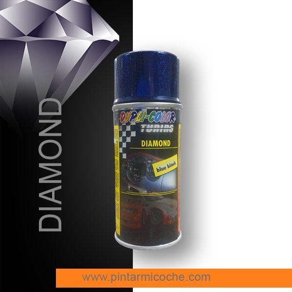 Diamond Blueblack Duplicolor. Pintura especial con efecto destellos.