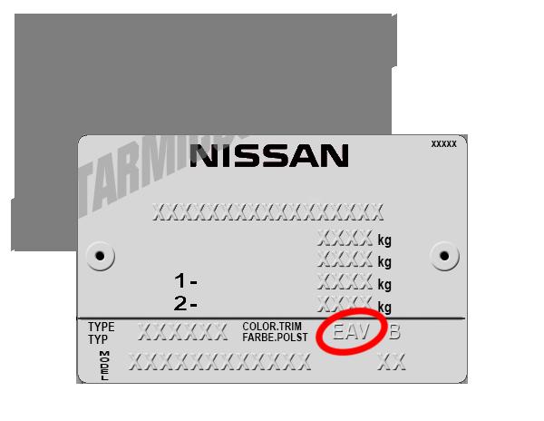 Código de color Nissan - Pintarmicoche.com