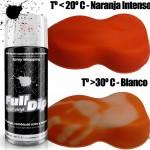 spray vinilo líquido termocromático naranja Full Dip