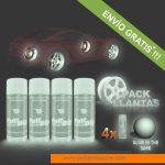 pack x 4 spray vinilo liquido glow in the dark