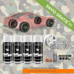 pack x 4 spray vinilo liquido colores militar