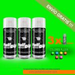 pack x 3 spray vinilo liquido fluor