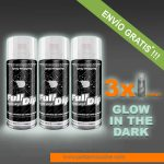 pack x 3 spray vinilo liquido glow in the dark