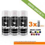 pack x 3 spray vinilo liquido sólidos