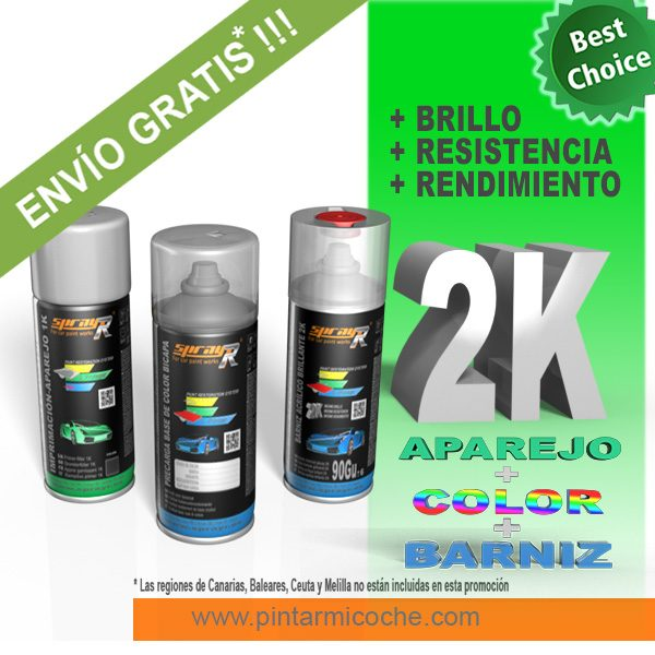 KIT SPRAY BASIC PLUS 2K SPRAYR